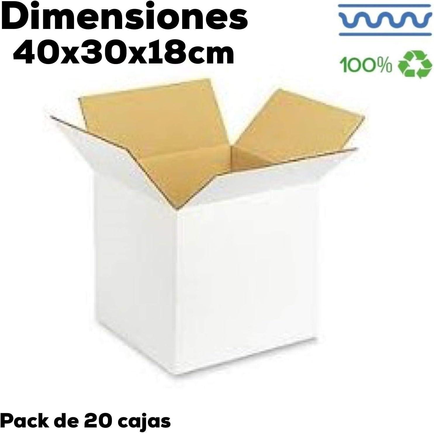 Cajas de Cartón Grandes Mudanza y Almacenaje. Distintos tamaños. Fabricadas en España. (10 40x30x18): Amazon.es: Oficina y papelería