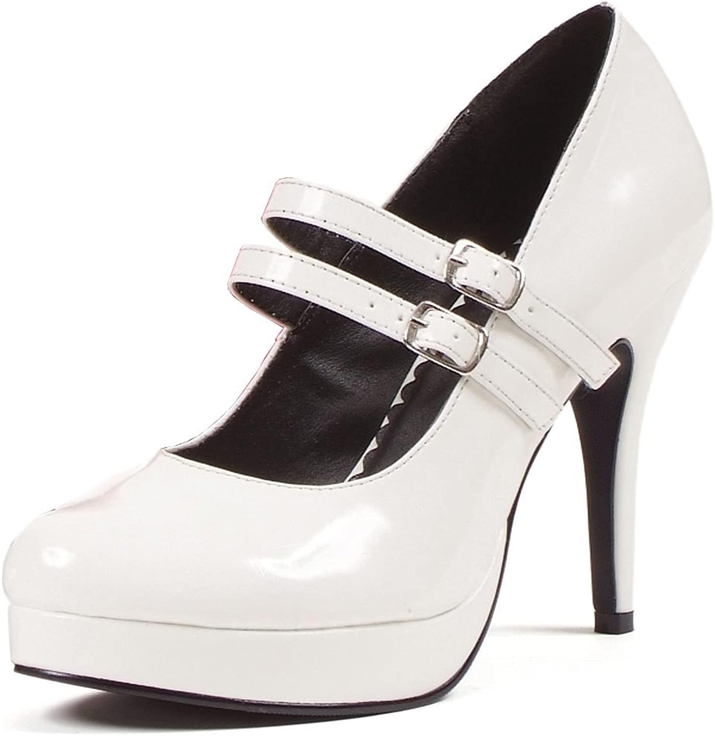Size US 4-13 Ladies Block Heels Buckle Strap Pumps OL Shoes Round Toe Mary Janes