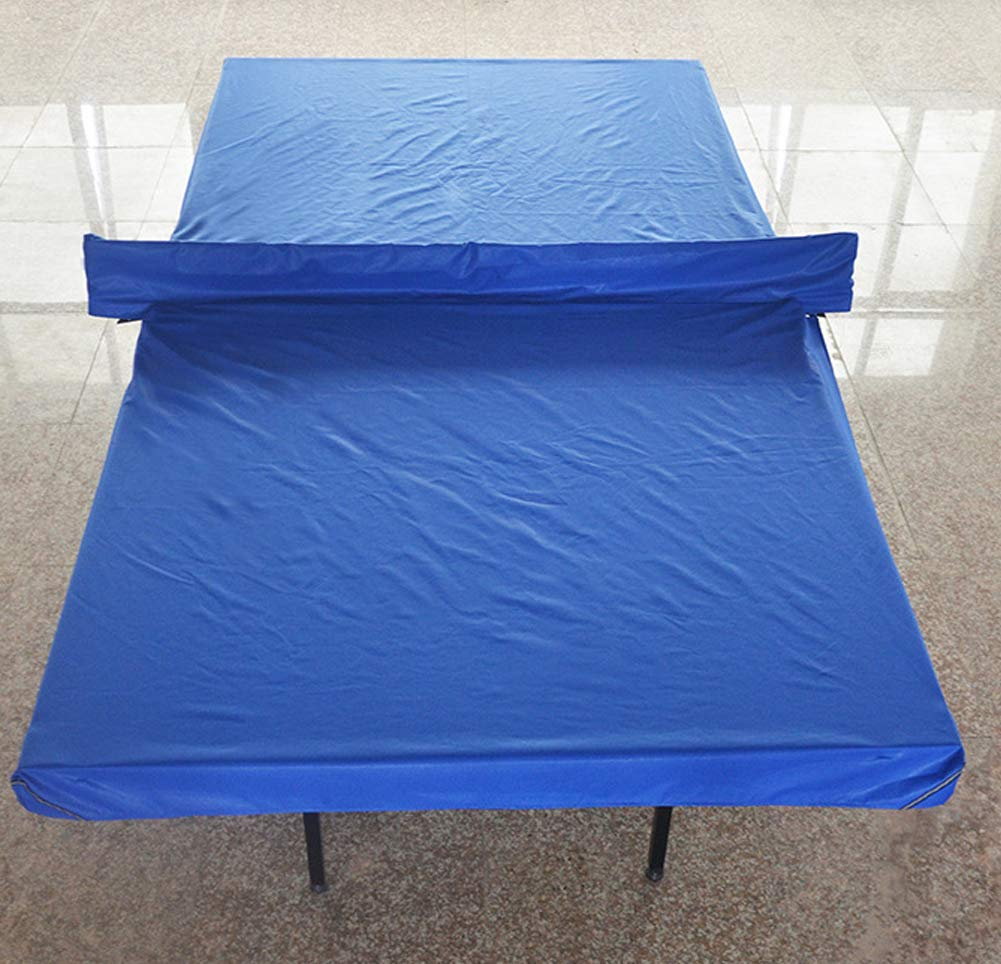 Lesmin Heavy-Duty Weatherproof Standard Table Tennis Table Cover with Reflective Sign Dust-Proof Outdoor Anti-Small Water