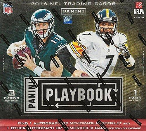 2016 Panini Playbook Football Hobby Box 1 Auto or Memorabilia Booklet Per Box