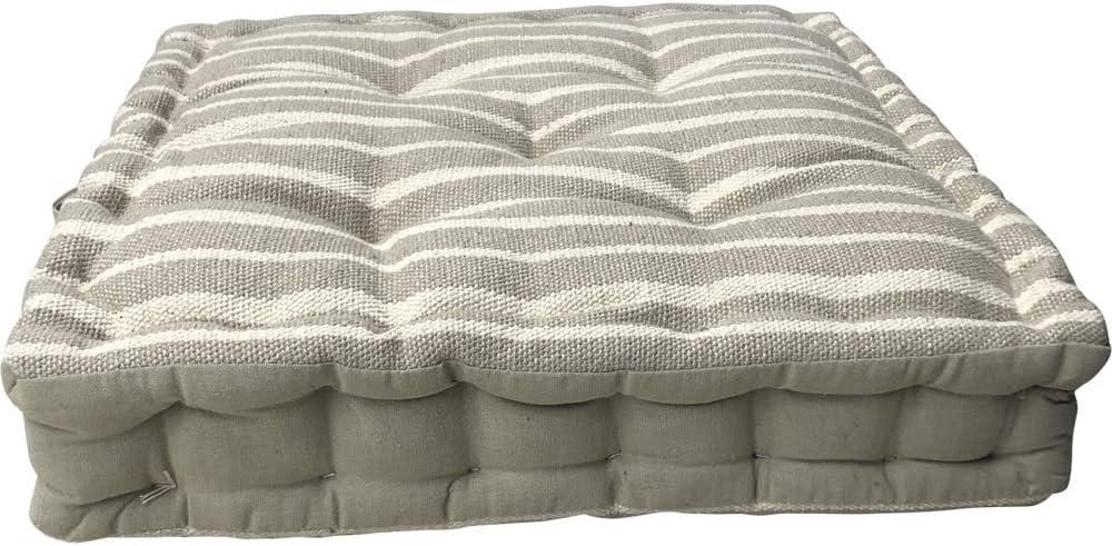 Cuscino grigio chiaro a righe pavimento in cotone cuscino grande sedia da giardino