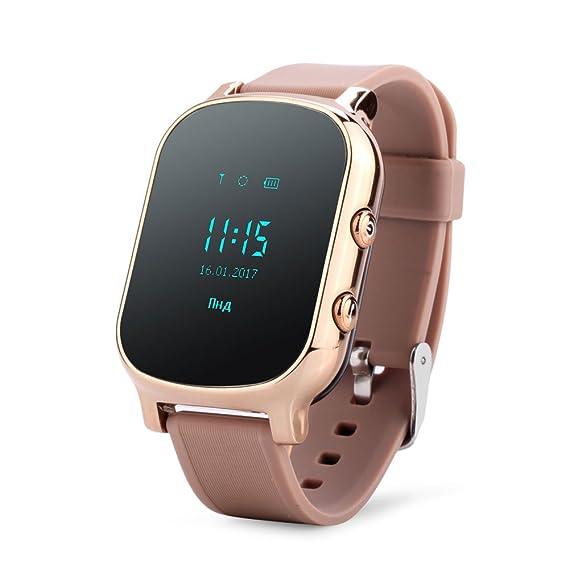 Reloj de pulsera con GPS para niños y ancianos, con Google Maps,