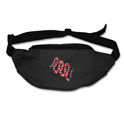 ab0b70c89288 Image Unavailable. Image not available for. Color  SEVTNY Waist Bag Rare  Red Moneysnake Fanny ...
