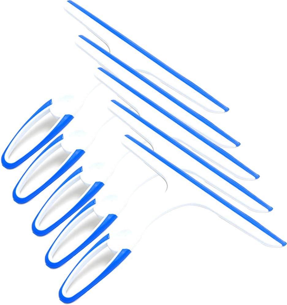 limpiaparabrisas zhouzhouji Limpiador de jab/ón para Ventana de Cristal Espejo de ba/ño Ducha limpiaparabrisas escobilla para el hogar