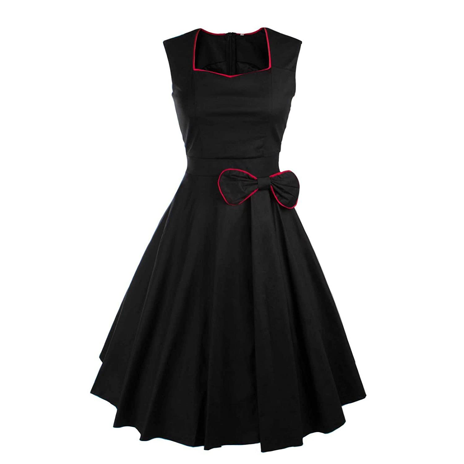 Vintage 1950s 60s Rockabilly Swing Retro Prom Evening Dress (Size 26): Amazon.co.uk: Clothing