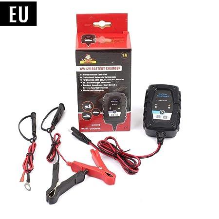 Wovemster 6 V 12 V 1 A Cargador de batería de Plomo Inteligente ...