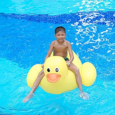 Dingji Floating Row Giant Little Yellow Duck Pool Suitable for Children and Adults: Toys & Games