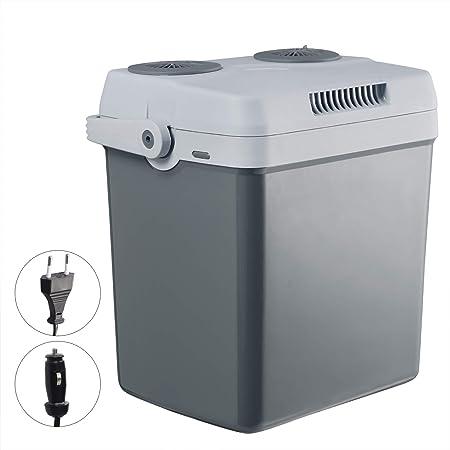 WOLTU Glaci/ère /électrique 26L Mini R/éfrig/érateur Moderne Isotherme Chaud//Froid 12V et 220V pour Voiture ou Camping,Gris KUE008dgr