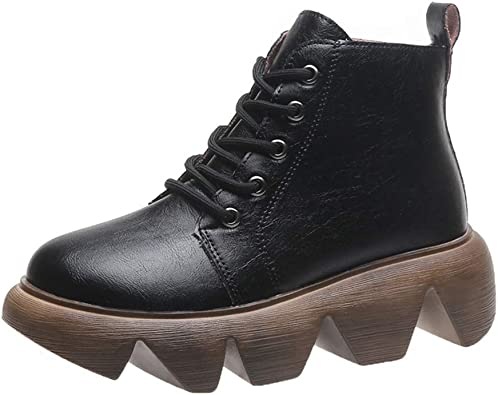 RQWEIN Platform Mid Calf Boots