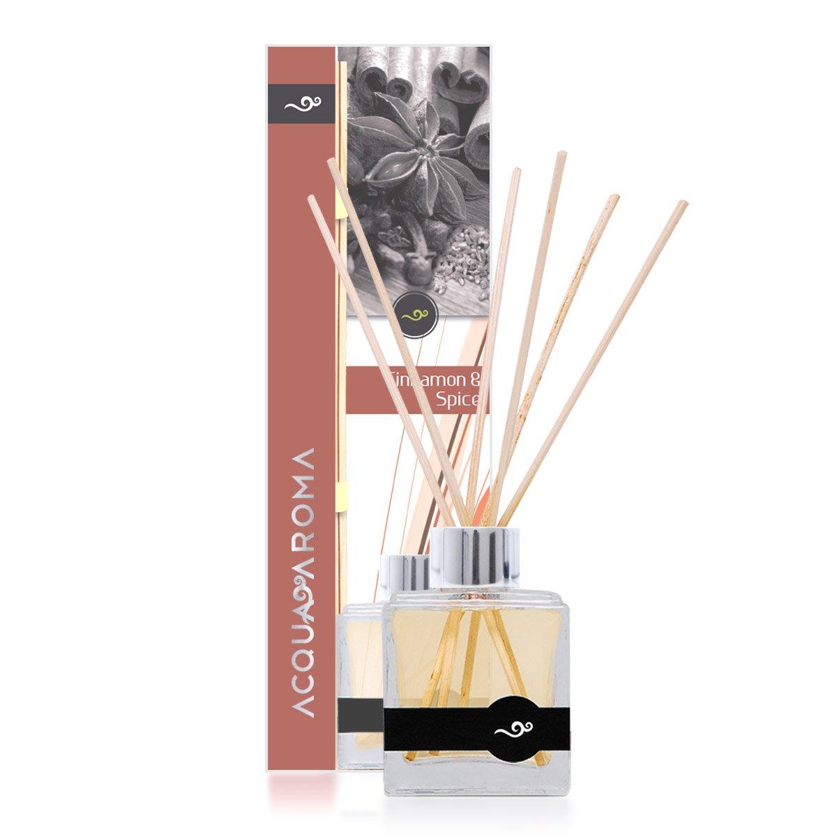 Acqua Aroma Cinnamon & Spice Reed Diffuser 3.4 FL OZ (100ml) by Acqua Aroma