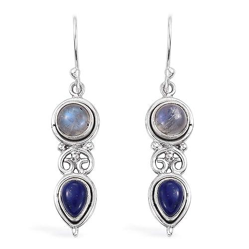 Boucles doreilles pendantes Boucles doreilles pendantes pour femmes Sterling Silver Earrings for Women /& Men Argent sterling 925 Boucles doreilles en pierre de lune poire