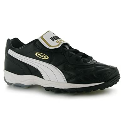 9486be99222b78 PUMA Mens King Allround Astro Turf Trainers Sports Shoes Black White UK 8