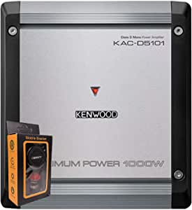 Kenwood KAC-D5101 1000 Watts Max Power Class D Mono Amplifier 2 Ohms RMS 500x1 Stable with Gravity Magnet Phone Holder Bundle