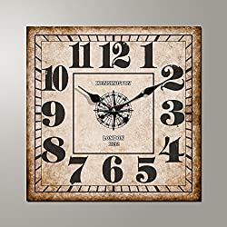 Continental square wall clock clocks and creative fashion about the living room bedroom living room wall clock edge length 34/40/50/60cm,A,24 inch