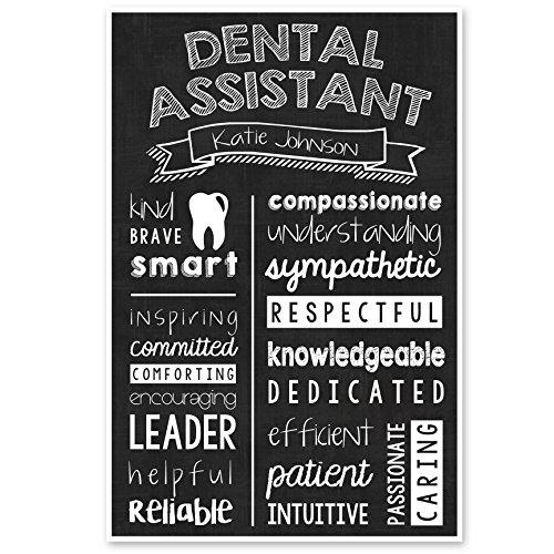 Amazon.com: Dental Assistant Chalkboard Wall Art – Graduation Gift – Appreciation Personalized Poster: Handmade