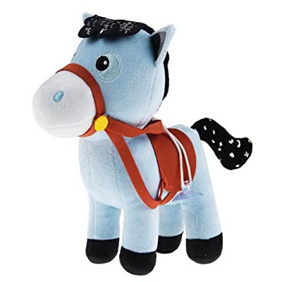 Abby(TM) Playset Sheriff Callie's Wild West Plush Doll Blue Horse Pony Sparky-7.9inch/20cm: Toys & Games