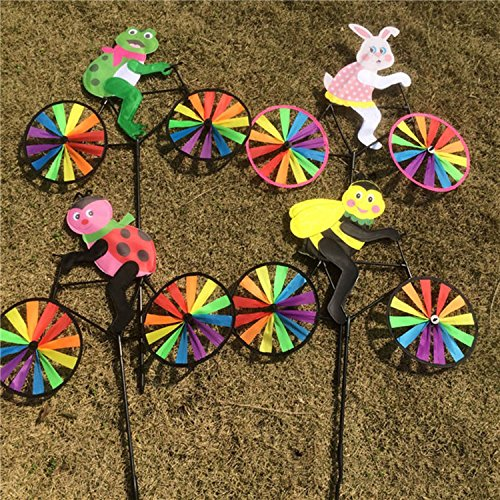 Animal Cycling Shape Creative Multicolor Wind Spinner For Garden Decor Children Toys Pattern Random
