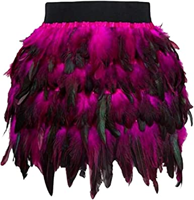 TIFIY Corta Falda de Plumas de Halloween para Damas de Navidad ...