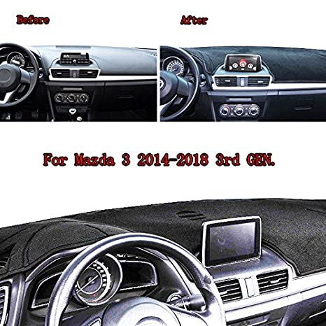 Amazon.com: XUKEY Dashboard Cover for Mazda 3 2014 2015 2016 2017 2018 Dash Cover Mat: Automotive
