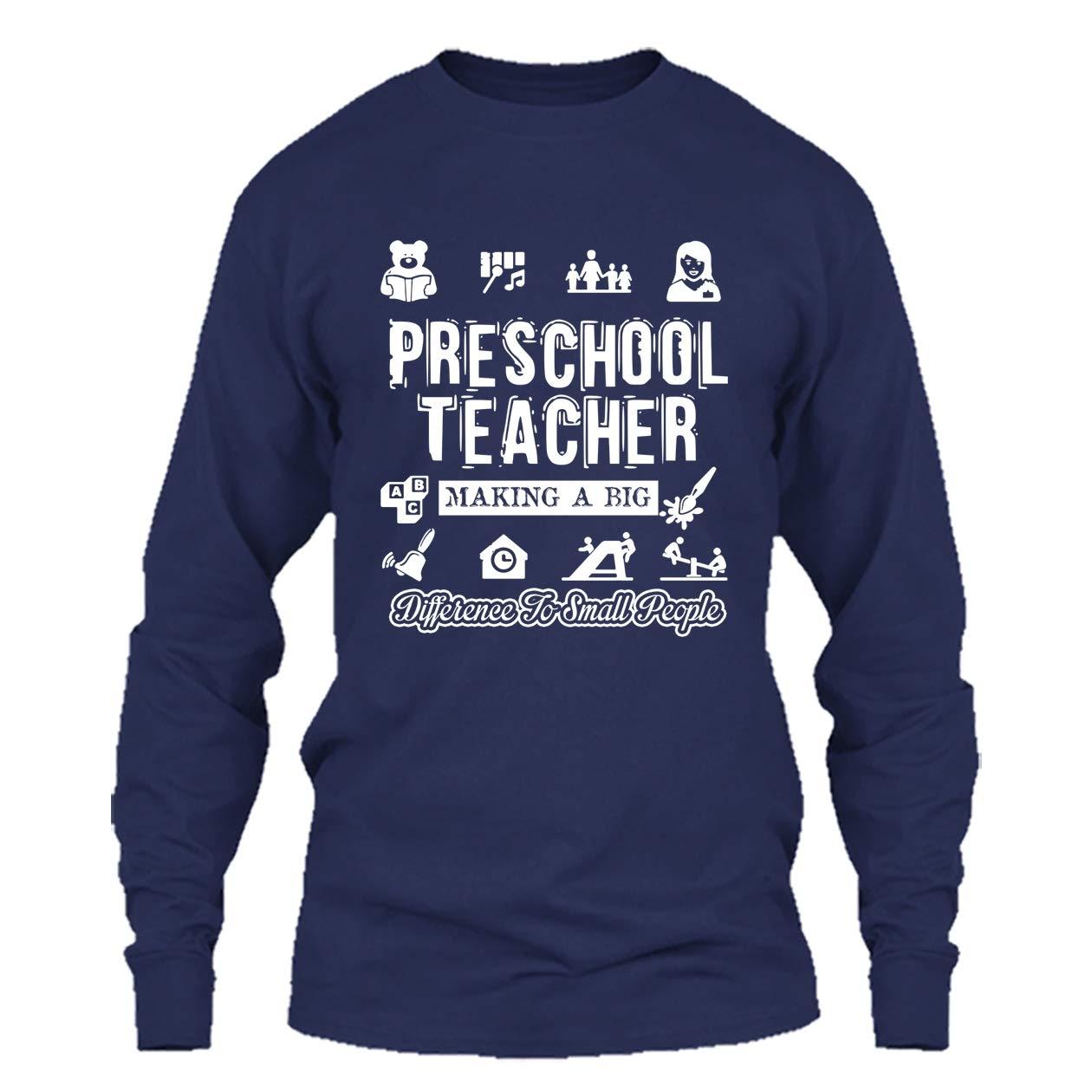 e5c8de341 Addblack Preschool Teacher T Shirt - Preschool Teacher Making Difference  Cool T Shirts Design | Amazon.com