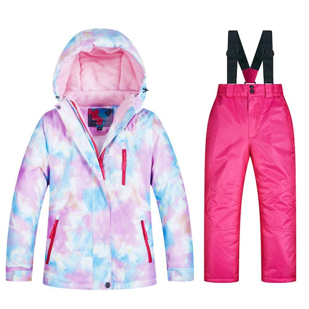 Cliff.l 2tlg Ski Jacke Skihose Mädchen Und Jungen Skianzüge Kleinkind Daunenhose Kinder Skianzug Warme Süß Daunenjacke Schneeanzug Mit Kapuze