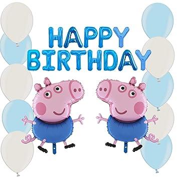 TOYLAND Paquete de Globos George Pig Party: con Pancarta de ...