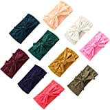 10 PCS Baby Girl Hairbands Hair Bows Newborn Infant Bows Girl Headbands Baby Headbands Newborn Infant Toddler Headbands Baby Girl Nylon Headbands Elastic Headbands Hair Accessories