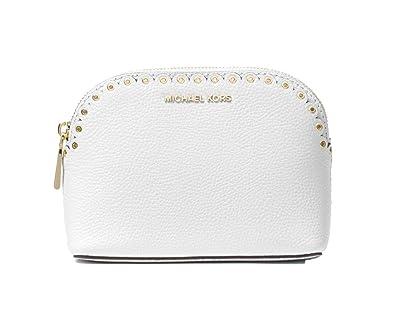 bd344d0099790 Amazon.com: Michael Michael Kors Women`s Medium Scalloped Pebbled Leather  Travel Pouch (One Size, Optic White(4752)): Shoes