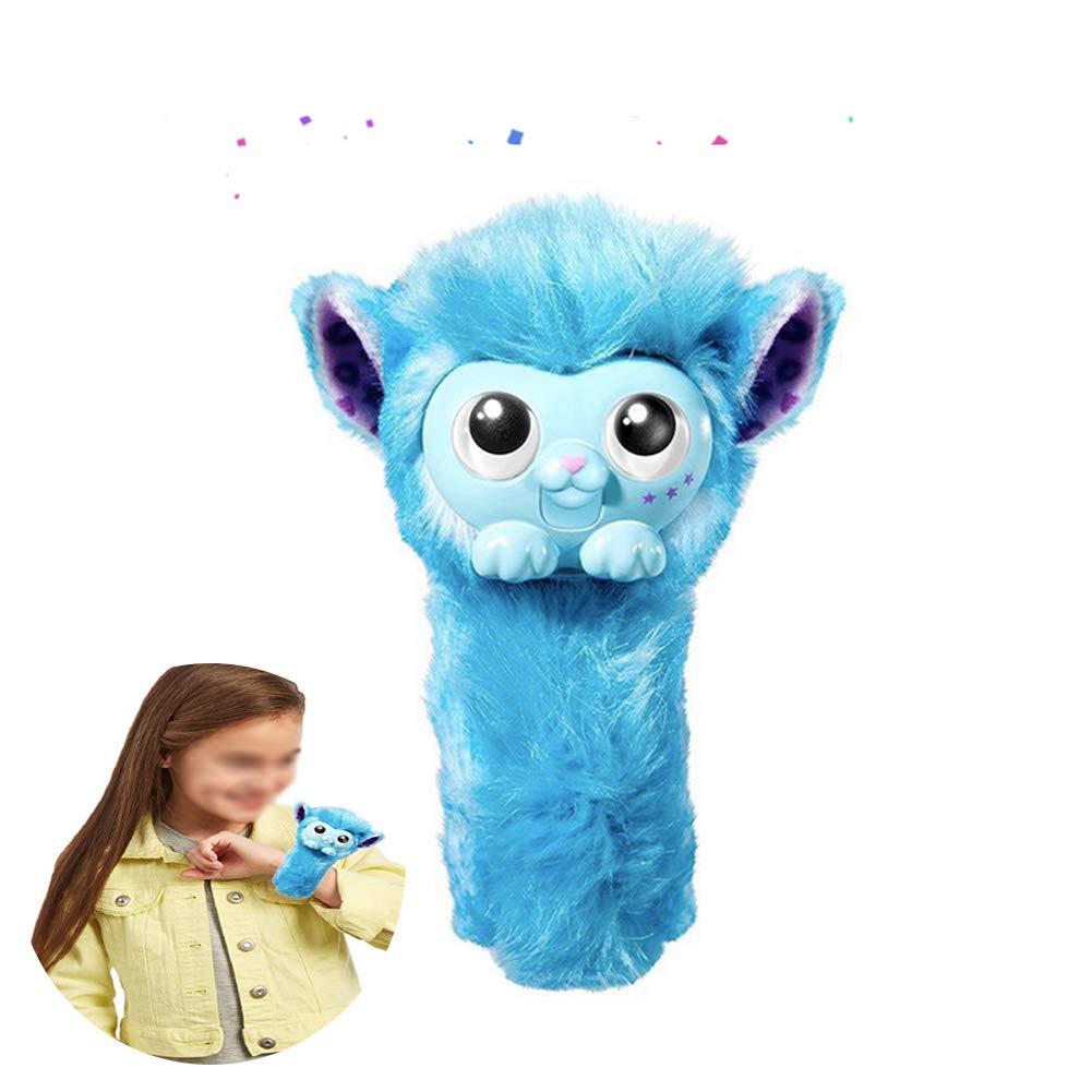 Hilai Plush-interactive monkey toy with slap-band tail-wrist toys interesting toys for children (blue)