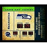 Team Sports America Seattle Seahawks Bluetooth Scoreboard Wall Clock
