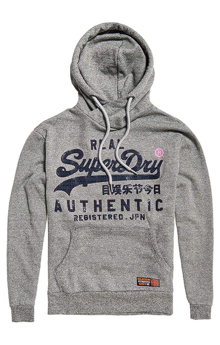 gris (Phoenix gris Grit Kbz) XS Superdry Reactive Classic Hood Sweat-Shirt à Capuche Sport Homme