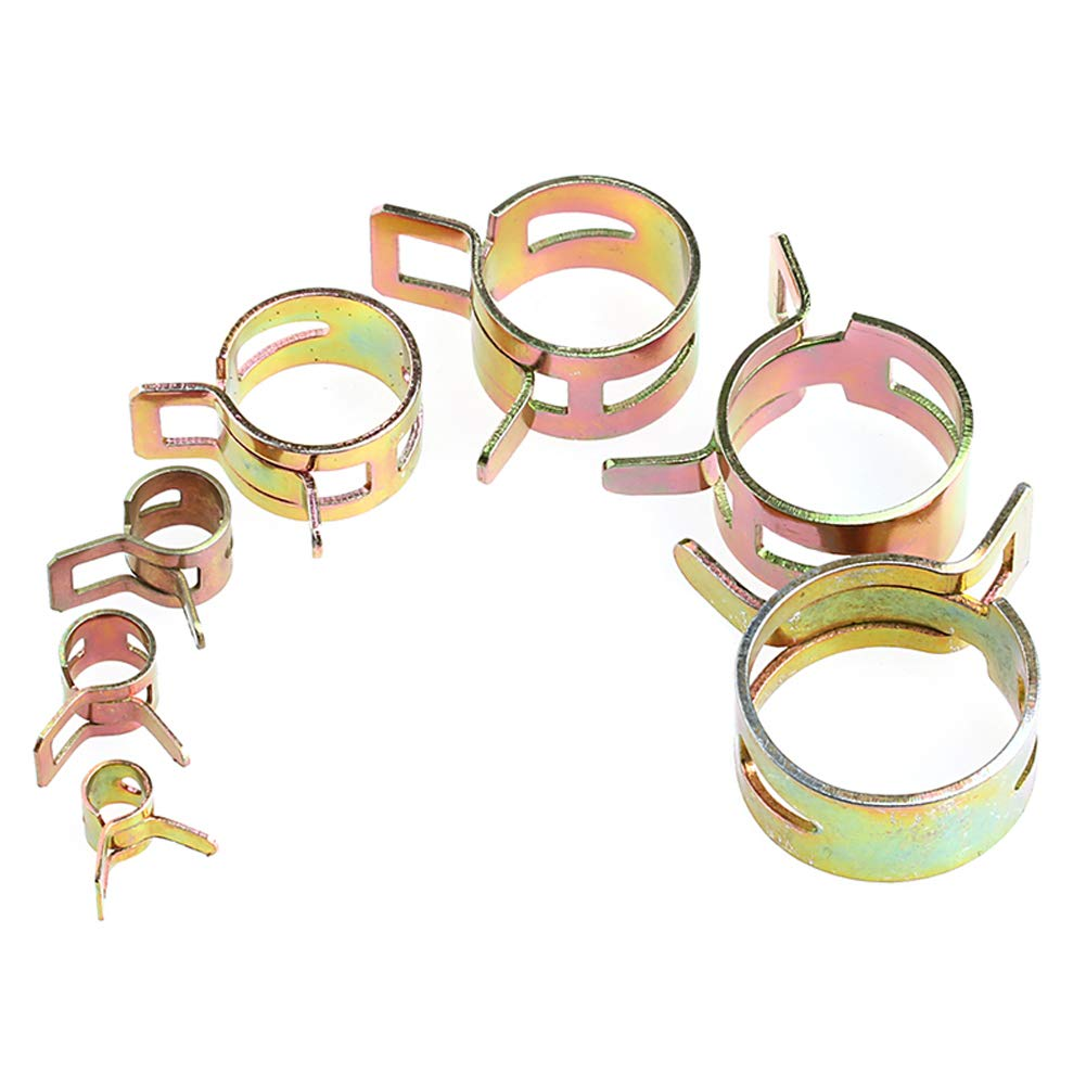 Haven Shop 10 Pcs 5-22mm Spring Clip Fuel Line Hose Water Pipe Air Tube Clamps Fastener Pipe Clamp Hose Clamp