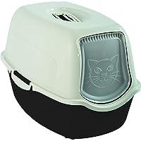 Rotho Bailey, Caja de arena con capucha y solapa, Plástico PP sin BPA, antracita, blanco, 56.0 x 40.0 x 39.0 cm
