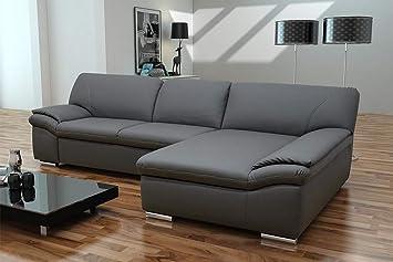 Bergamo Ecksofa Eckgarnitur Couch Sofa Kunstleder Schlamm Amazonde
