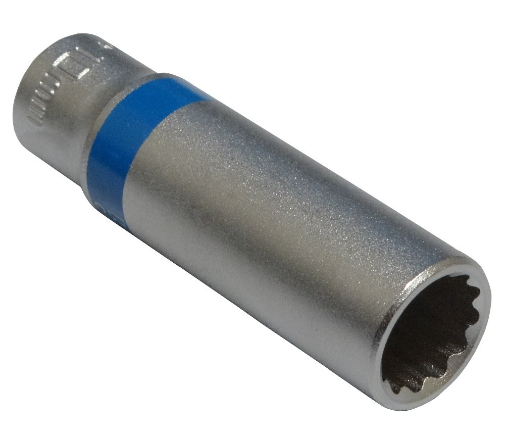 AERZETIX: Llave de vaso largo (12 caras, 10 mm, 1/4') 1/4) 3800946186984