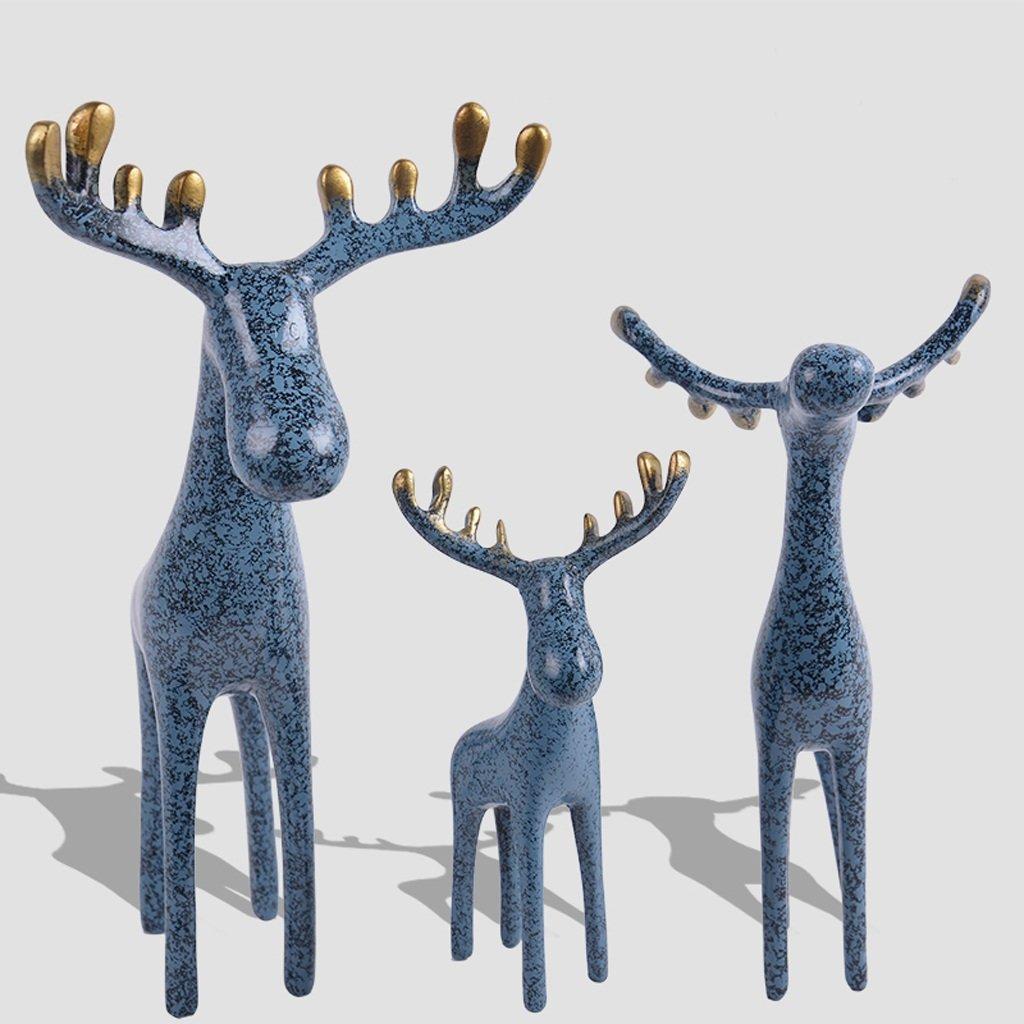 Unbekannt GAODUZI Hirsch Harz Skulptur Dekoration Kreative Wohnzimmer Wohnzimmer Kinderzimmer Nette Desktop Dekorative Handwerk ornamentsn (Farbe : B)