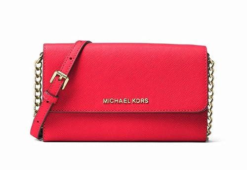 699548e6383d Michael Kors Jet Set Travel Saffiano Leather Smartphone Crossbody in  Sangria  Amazon.ca  Shoes   Handbags