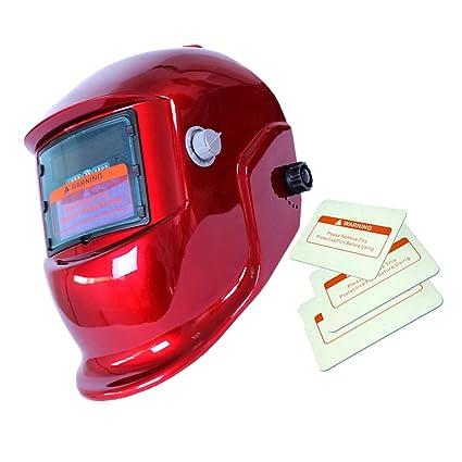 Máscara Automático Soldadura de Oscurecimiento Solar Casco Arco TIG Mig Soldador - 7