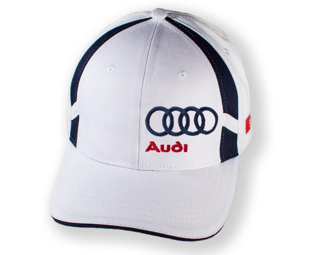 Gorra de béisbol con logotipo de Audi S Line brillante blanco Cap ...