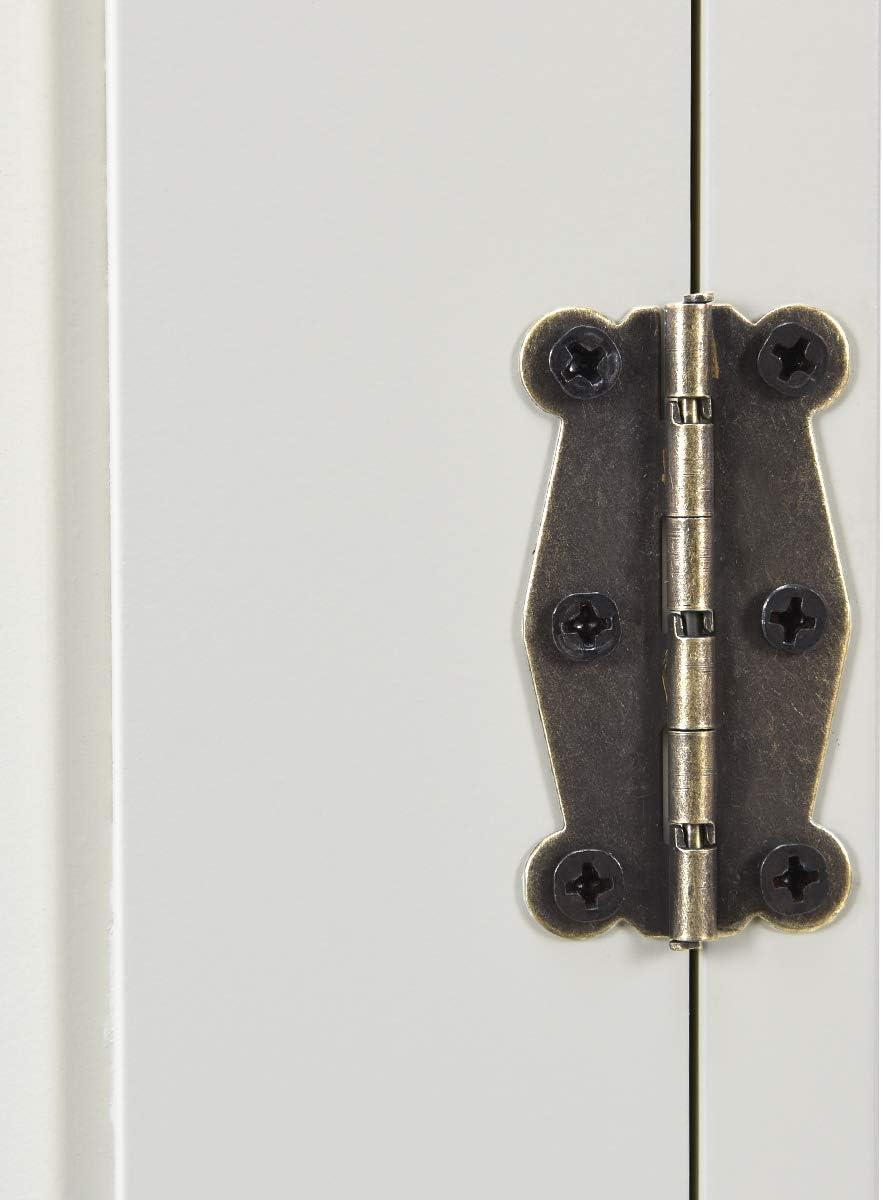 RELAX4LIFE Armadietto di Stoccaggio 58,5 x 31,4 x 123 cm Bianco Armadietto Autoportante con Grande Capacit/à Cucina Corridoio Contenitore Multiuso con Ripiani Regolabili,Armadietto per Soggiorno