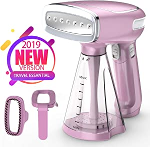 KEIYALOE Powerful Clothes Steamer -1200W Handheld Garment Steamer with 250ml,25s Fast Heat-up Steamer for Clothes, Fabric Steamer for Home and Travel,Three Steam Mode (Purple)