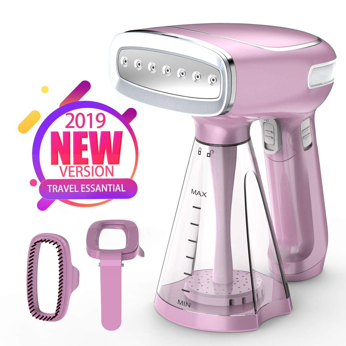 KEIYALOE Clothes Steamer,1200WPortable Garment Steamerwith 250ml,25s Fast Heat-upSteamer for Clothes,Handheld Fabric Steamer for Home and Travel,Vertically & Horizontally Steam,Three Steam Mode