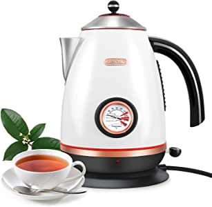 Electric Temperature Kettle, 1.7L Stainless Steel Coffee Tea Kettle, Fast Boil,Boil-Dry Protection,BPA Free and Large Capacity, Home Practical Gift