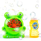 Bubble Blowing Machine for Kids - Easy to Use & Durable High Output Bubble Machine Blower for Tons of Indoor and Outdoor Bubble Fun- With Free Bubble Solution