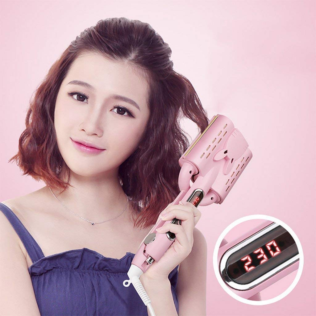 Magic Automatic Hair Curler LCD Egg Roll Head Curling Rod Water Ripple Cake Wave Curler Does Not Hurt Hair Roll Three Sticks Egg Roll Stick,32MM by yahogo (Image #2)