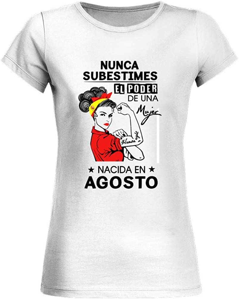TEEZILY Camiseta Mujer Nunca Subestimes el Poder de una Mujer Nacida en Mayo (Mujer Pin up): Amazon.es: Ropa y accesorios