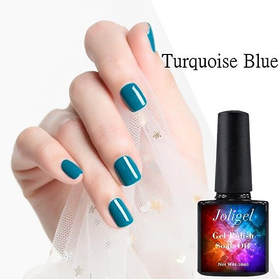 Uñas azul turquesa