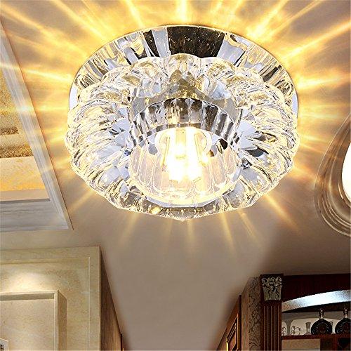 Modern LED Pendant Flush Mount Ceiling Fixtures Light Spotlight led ceiling light 3w5w light crown light background wall lamp crystal downlight, 100 h50mm