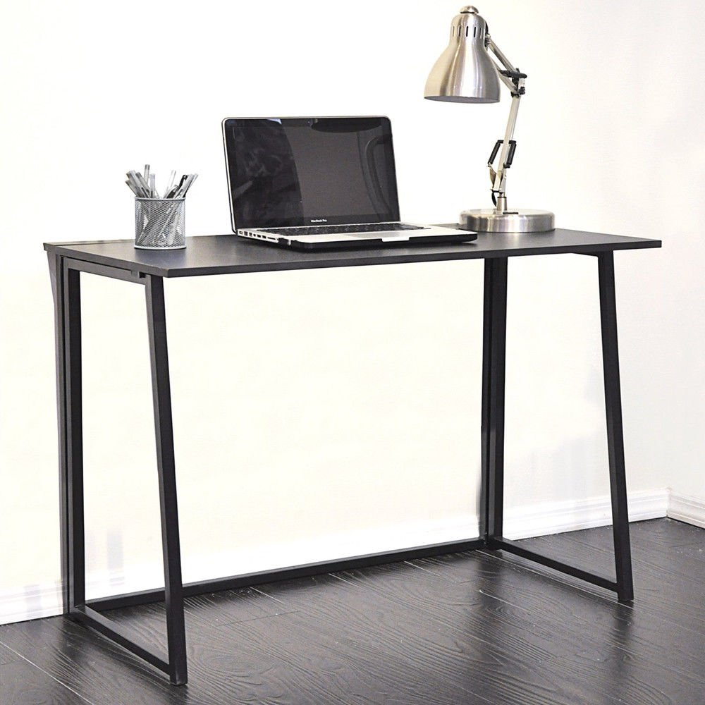 """All Goodly 31.5""""L x 17.72""""W x 29.33""""H Folding Computer Desk/Home Office Table/Utility Desk (BLACK)"""