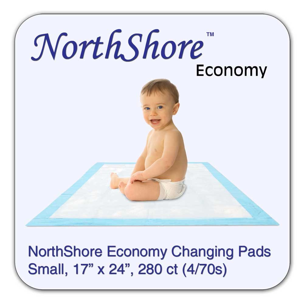 NorthShore Economy, 17 x 24, 6 oz, Changing Pads, Small, Case/280 (4/70s) NorthShore Care Supply